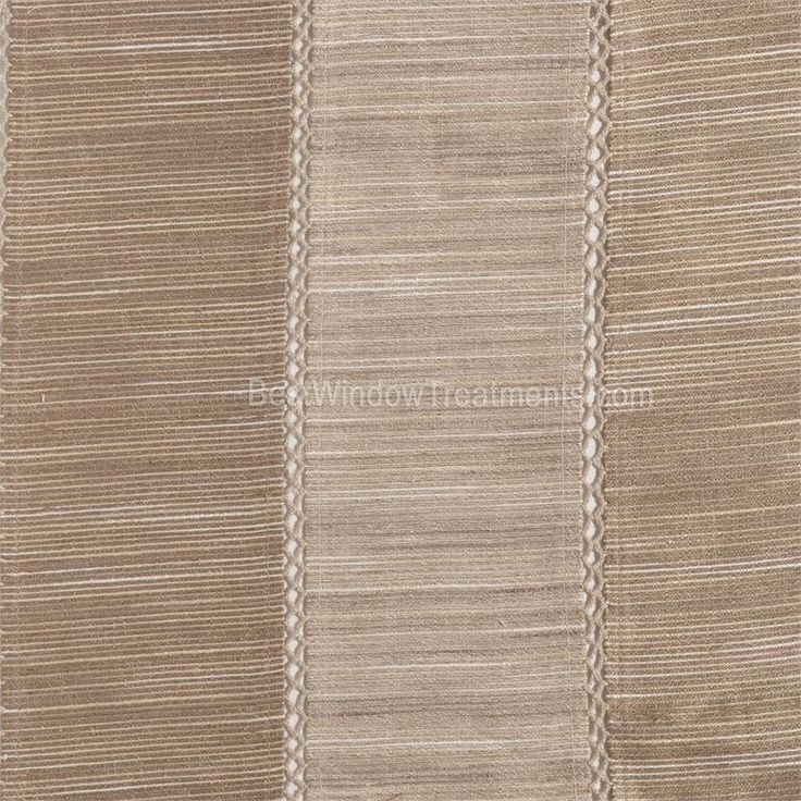 Tandora Stripe Drapery Curtain Panel In Linen Taupe Color