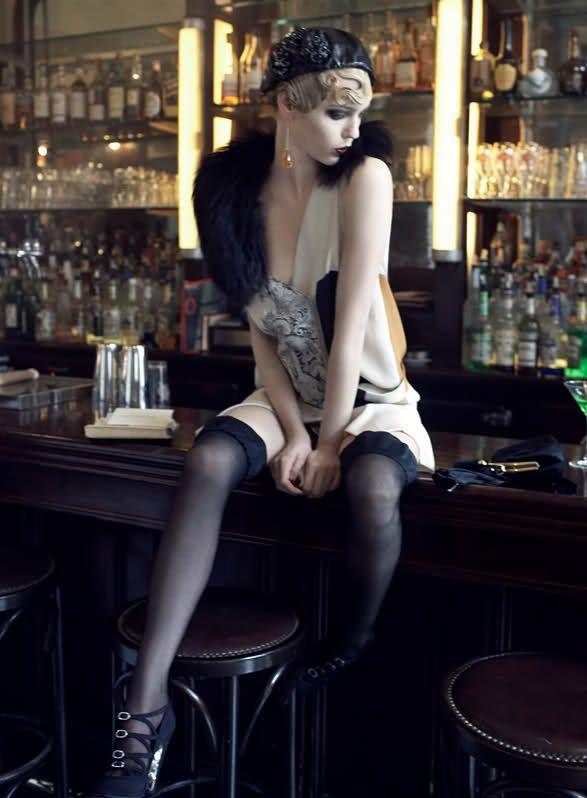 "Vogue US September 2007, ""Paris, Je T'aime""1920 S, Fashion, Steven Meisel, Flappers Girls, Sasha Pivovarova, 20S Style, Grace Coddington, Coco Rocha, 1920S Flapper"
