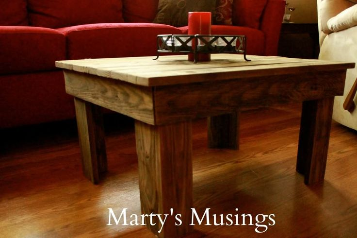 Rustic Repurposed Wood Coffee Table from Fence Boards