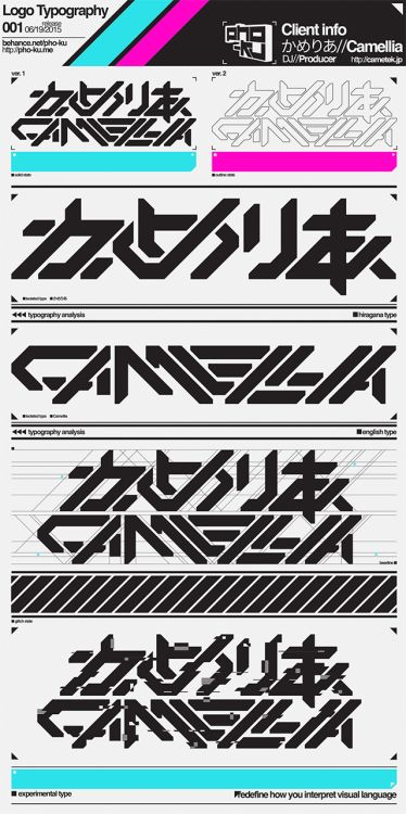 pho-ku:  Had the excellent opportunity to design a logo for cametek. Really was stoked to do this considering I'm a big fan of his music. Give his stuff a listen if you're into Dubstep/Glitch Hop/DnB/Chiptunes/Big Room/etc.View the full project on Behance.