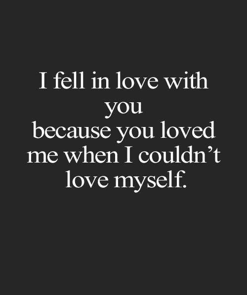 Fell In Love With You - Love Quote: