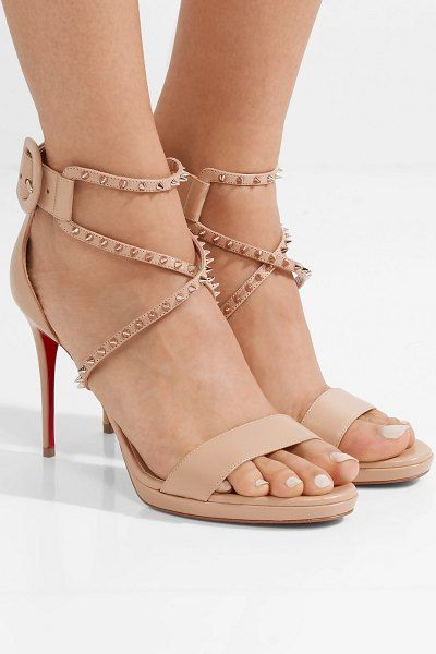 078d9ab32fd3 Choca lux 100 studded leather sandals by Christian Louboutin   christianlouboutin