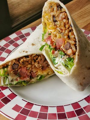 Bean and Rice Burritos - I plan to make these in pitas for less mess potential.