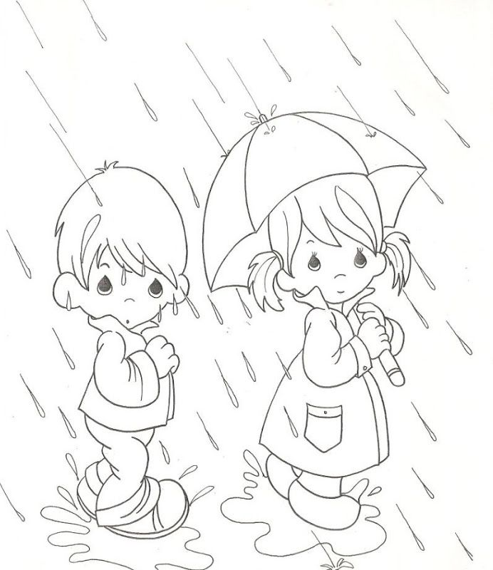 3792 best Coloring images on Pinterest Coloring books, Vintage - new preschool coloring pages rain