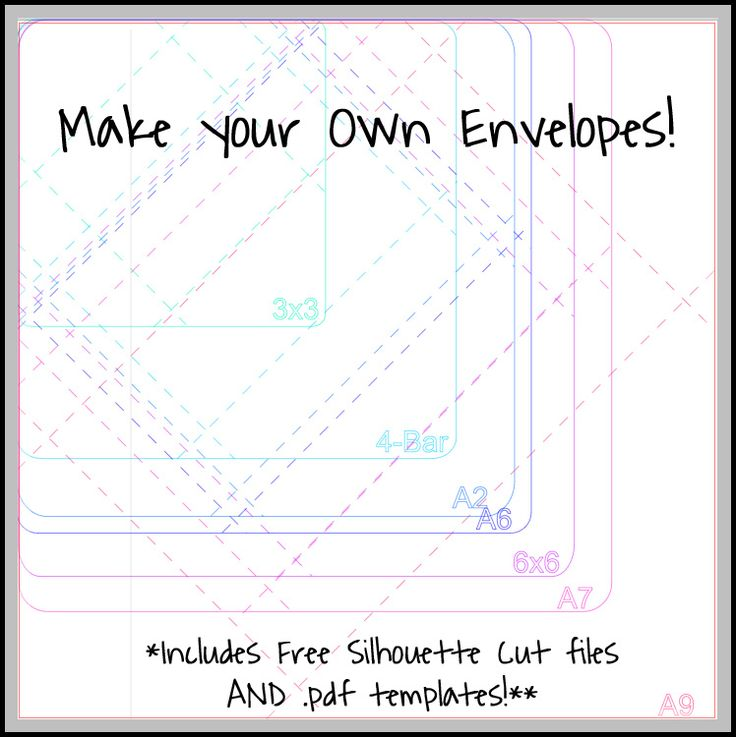 Make your own envelopes!  Tutorial and free cut file via Please Excuse My Craftermath