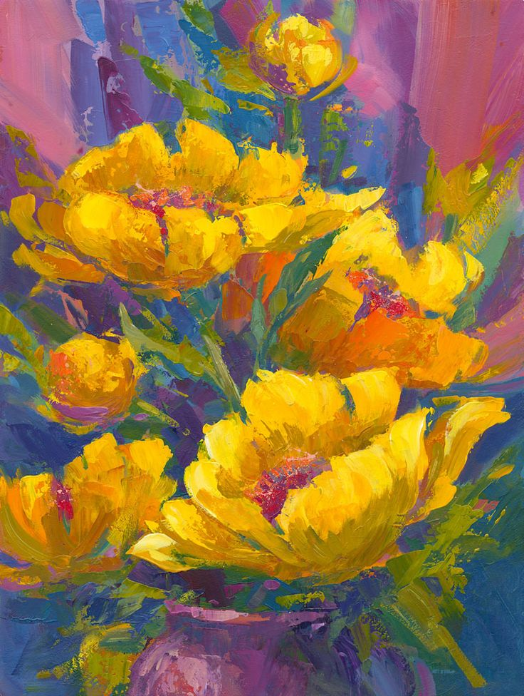 240 best flower garden v images on pinterest floral for Pretty acrylic paintings