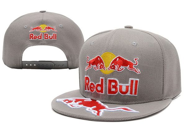 Red Bull Snapback Hats Grey