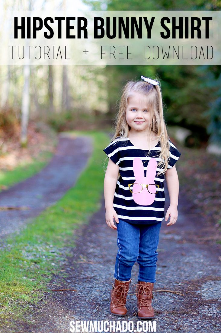 Hipster Bunny Shirt Tutorial - sooo cute!