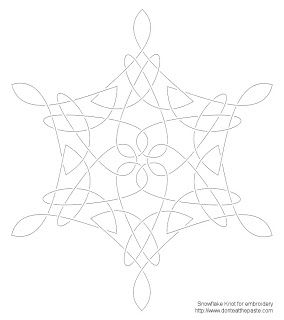 Don't Eat the Paste: Snowflake Knot Embroidery Pattern, Celtic snowflake