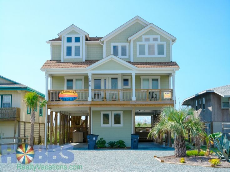 Holden Beach, NC - Carolina Memories 1039 a 6 Bedroom Oceanfront Rental House in Holden Beach, part of the Brunswick Beaches of North Carolina. Includes Elevator, Private Pool, Hi-Speed Internet