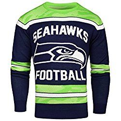 NFL Seattle Seahawks Ugly Glow in The Dark Sweater, XX-Large