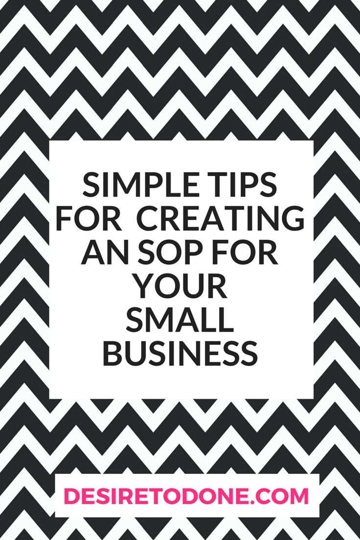 Simple Tips For Creating An Sop For Your Small Business