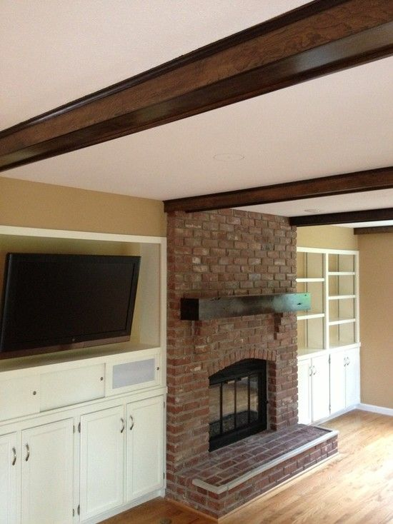 Shiplap Wall With Fireplace Fireplace, Living Room With Conventional Fireplace