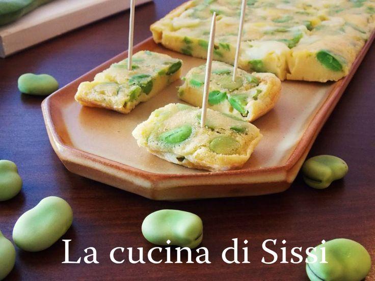 FRITTATA  AL FORNO CON FAVE FRESCHE E SCAMORZA http://blog.giallozafferano.it/cucinasissi/frittata-forno-fave-fresche-scamorza/