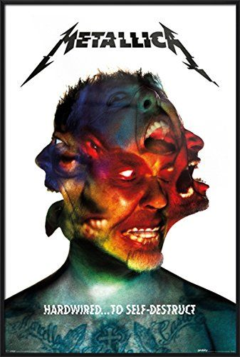 """Metallica - Framed Music Poster / Print (Hardwired - Album Cover) (Size: 24"""" x 36"""")"""