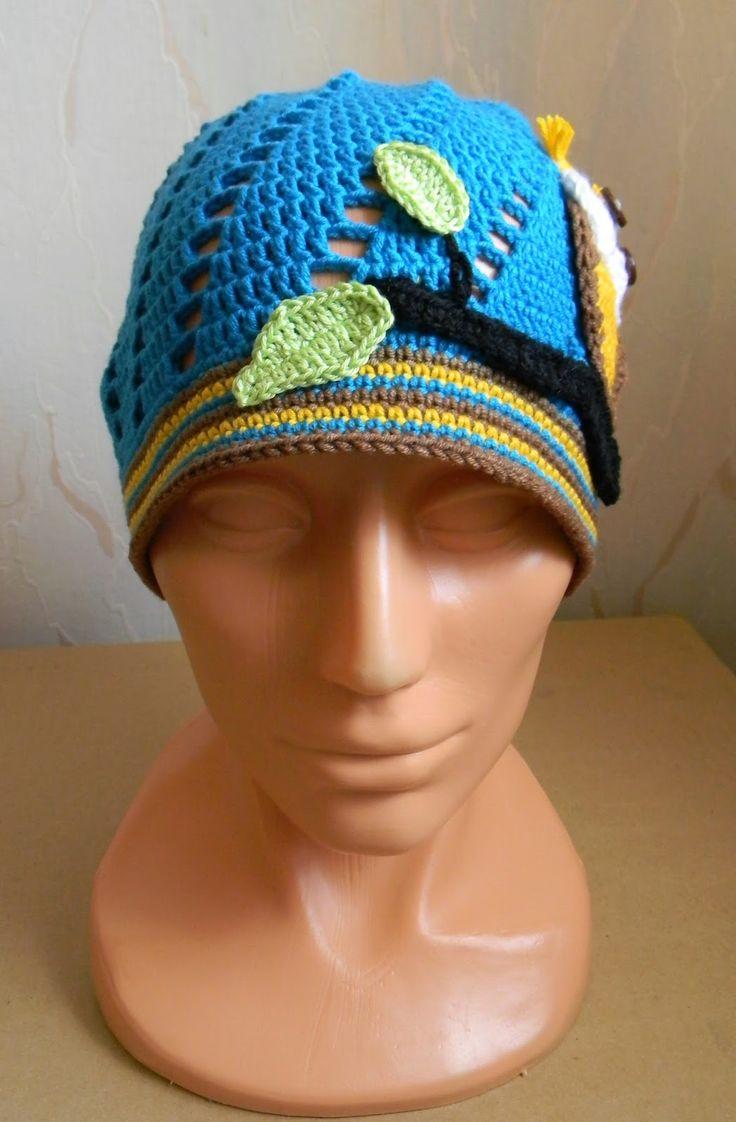 Kreatywna Pszczoła: Bawełniana czapka z sową