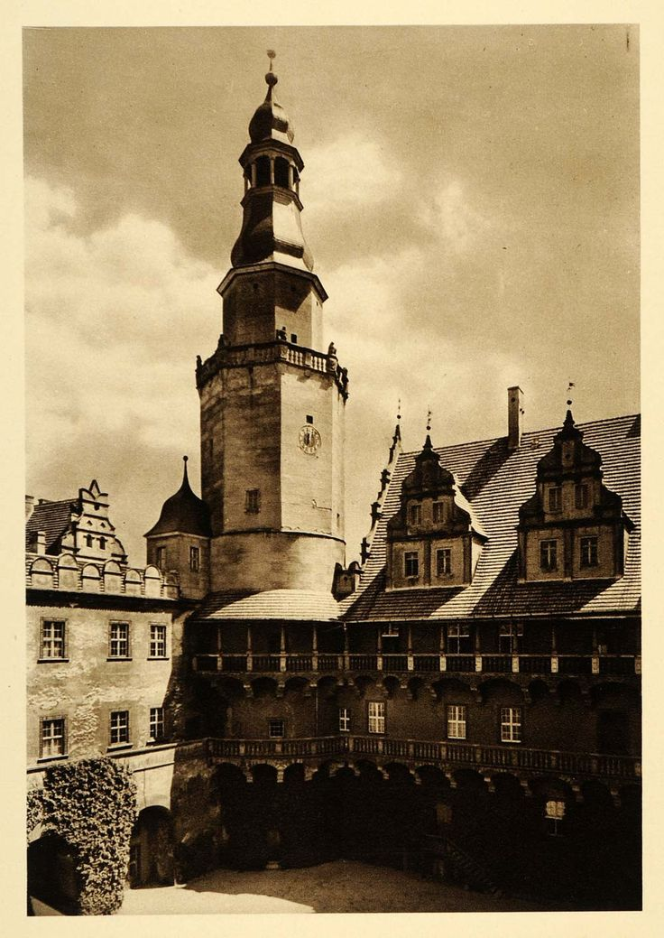 1924 Germany Poland Olesnica Castle Silesia Duchy Oels - ORIGINAL GR3