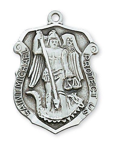Sterling Silver St. Michael Pendant - Patron Saint - St. Michael