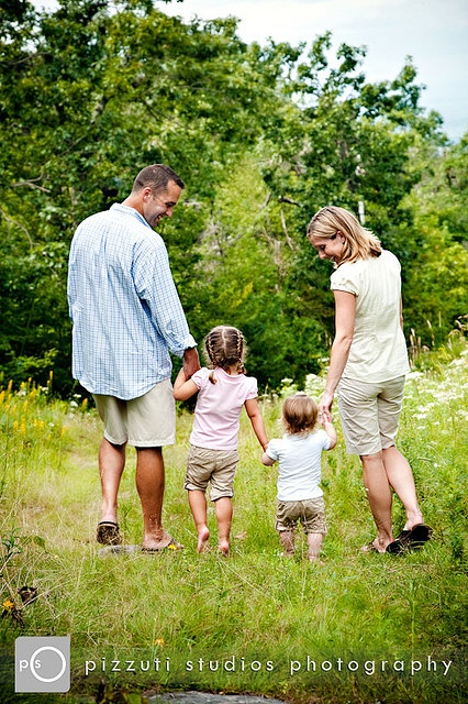 Casual, neutral colors for family photo (like the pose too - would work with our fam)