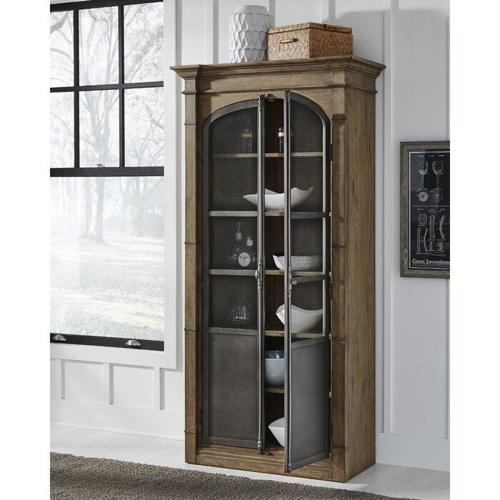 Fordyce Curio Cabinet In 2020 Oak Display Cabinet Cabinet Wood