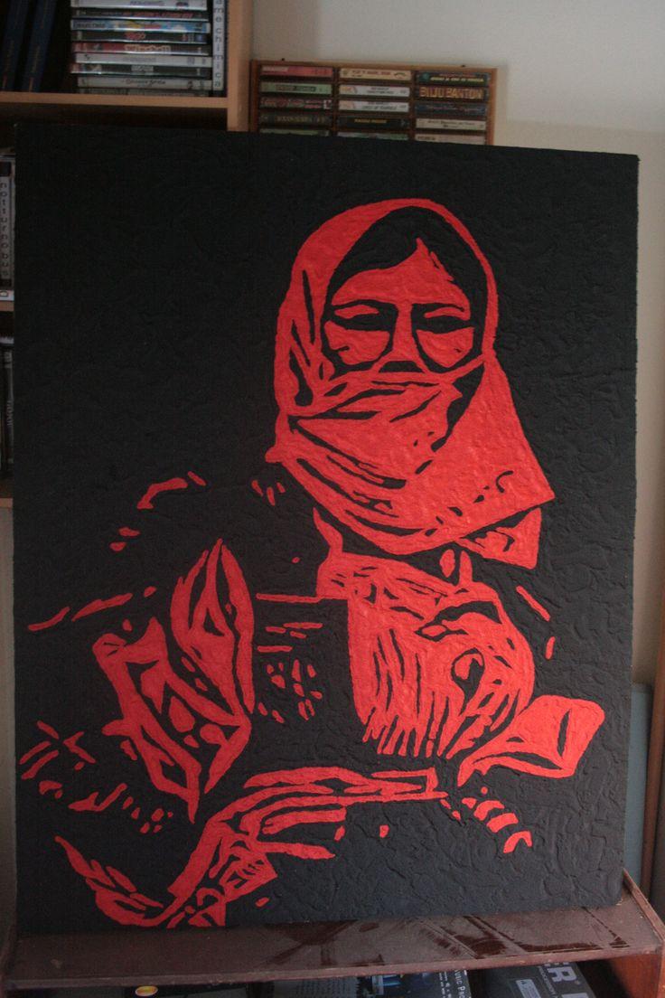 femina sarda sabbia e acrilico 2016