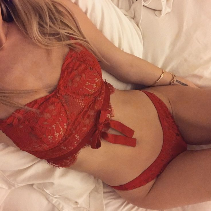 'Tis the season to be wearing red to bed  Shop the Poppy Underwire Bra & Lace Panty