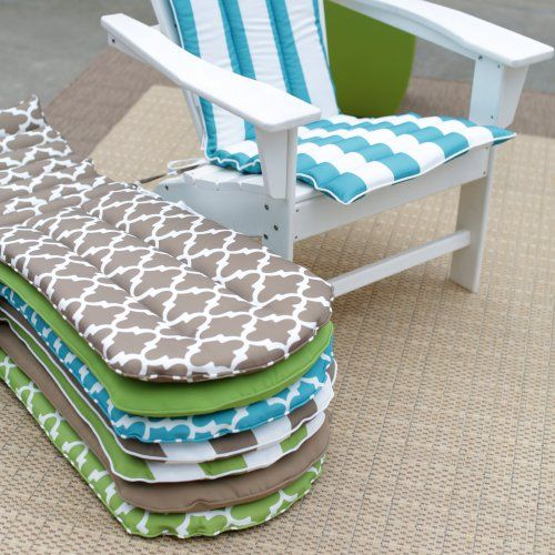 Coral Coast Lakeside Adirondack Chair Cushion - Your Adirondack chair is going to love getting all dressed up in the Coral Coast Lakeside Adirondack Chair Cushion - and you'll love the extra c...