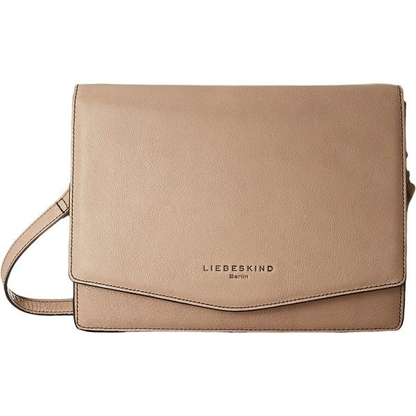 Liebeskind Dallas Crossbody (Brand New Stone) Cross Body Handbags ($80) ❤ liked on Polyvore featuring bags, handbags, shoulder bags, neutral, man bag, beige handbags, crossbody shoulder bags, liebeskind handbags and shoulder strap bags