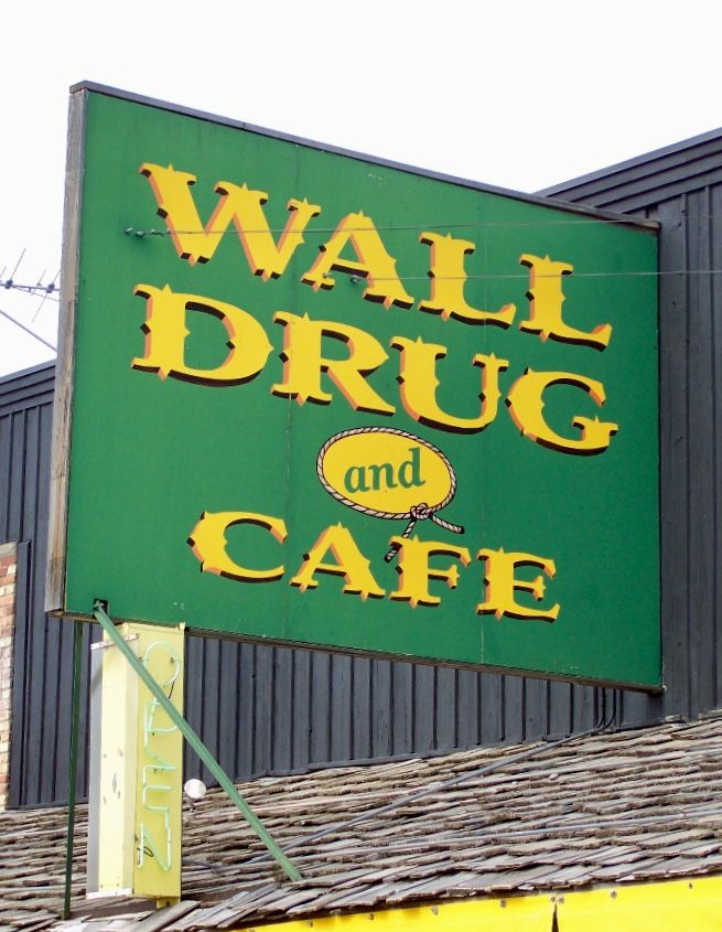 wall drug and cafe sign wall south dakota cafe sign on wall drug south dakota id=76488