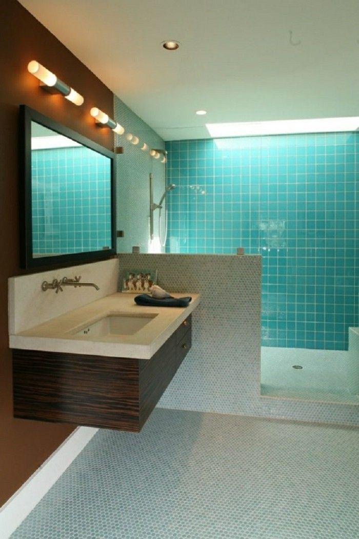 1000 id es sur le th me salle de bains turquoise sur for Baignoire faience bleue