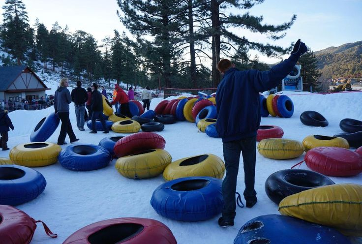 Tubing in Big Bear, California