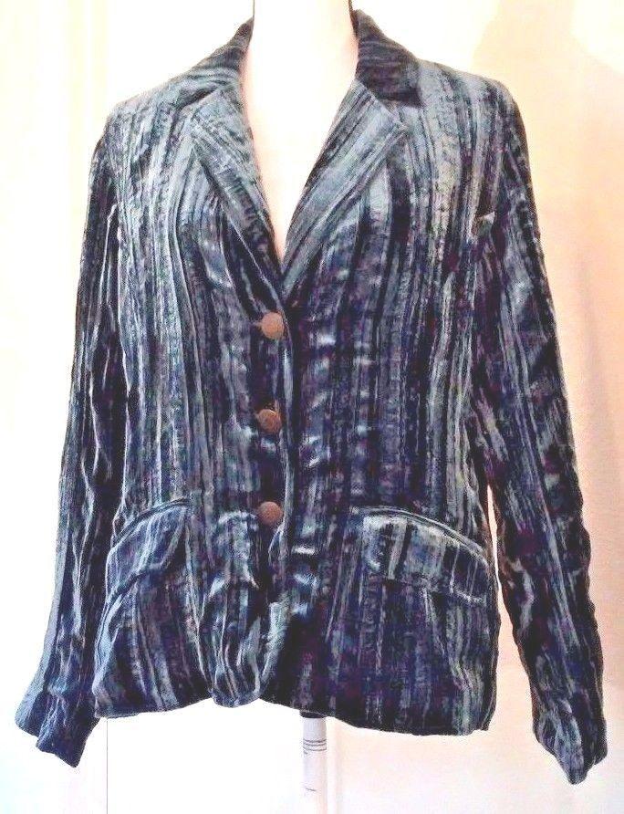 Chico's Women's Blazer Size 2 L Large Blue Velvet Silk Blend Semi-Formal Evening | Clothing, Shoes & Accessories, Women's Clothing, Suits & Blazers | eBay!