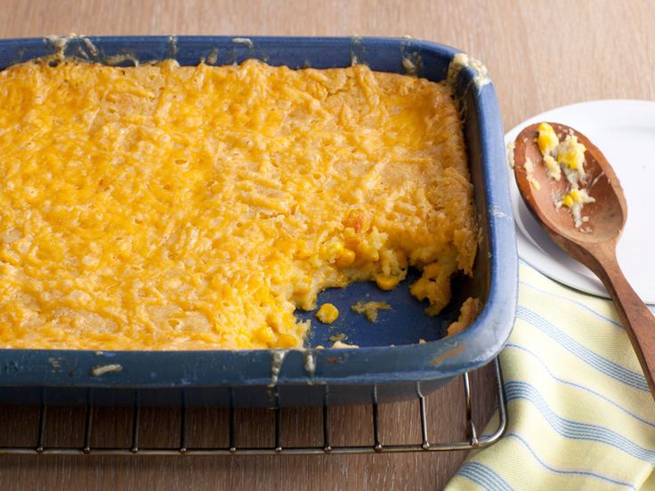 Corn Casserole recipe from Paula Deen via Food Network Leave out the cheese and add a can of diced green chilies