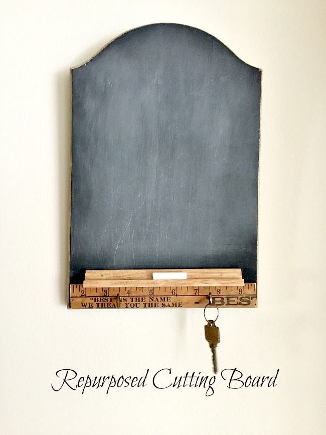 Make a Cutting Board into a Chalkboard Center www.homeroad.net