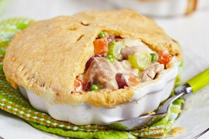 Bobby Deen's Chicken Potpie - As seen on Dr. Oz Show, a healthier version of his Mom's delicious recipe.