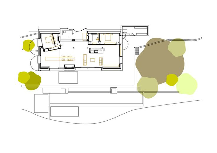 Off Grid Home in Extremadura by ÁBATON Architects_ Ground floor plan 1-200