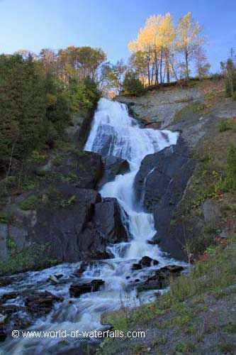 Looking up at Bridal Veil Falls  Chute Montmorency, Quebec, Canada