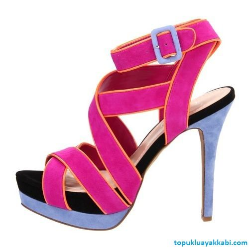 Pembe Kemerli Açık MaviTopuklu Sandalet - http://www.topukluayakkabi.com/pembe-acik-mavi-kemerli-topuklu-sandalet.html #sandalet #topukluayakkabi #yazliksandalet #acikmaviayakkabi #pembeayakkabi