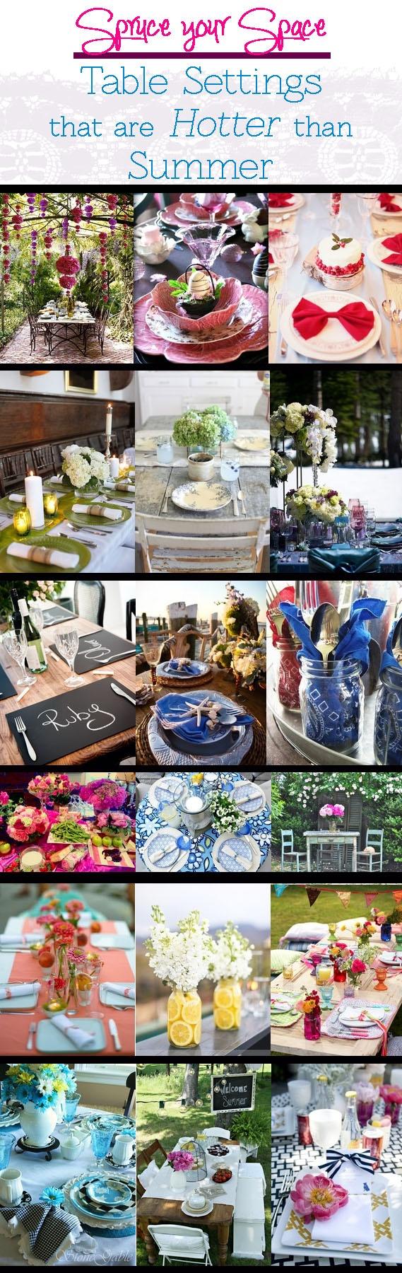 table settings for summer