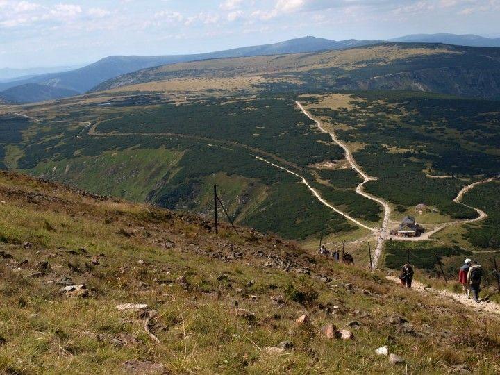 Hiking trail to Sněžka, Krkonoše National Park, The Czech Republic