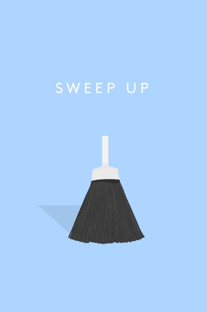 "How To Make Your Apartment Look Clean In 5 Minutes #refinery29  http://www.refinery29.com/quick-cleaning-tips#slide4  Sweep Up Your mission: Eliminate little crumbs or dust bunnies that will stick to people's socks. ""It just makes your guests feel dirty,"" says Kadi Dulude, owner of NYC cleaning service Wizard of Homes."