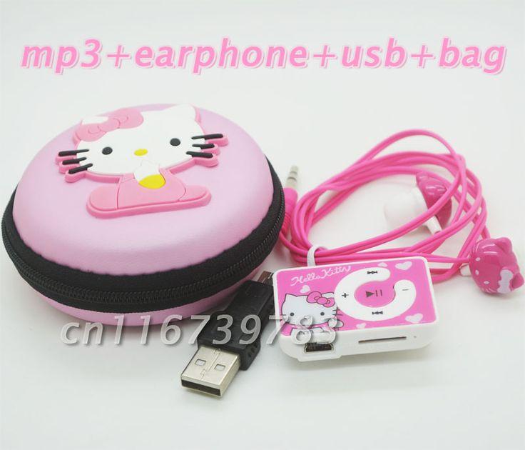 Купить товарМода Мини Hello Kitty MP3 Музыкальный Плеер Клип Mp3 плееры Поддержка TF Карта С Hello Kitty Наушников и Мини usb и hello kitty сумка в категории MP3-плеерына AliExpress. 1 > Популярные супер мини hello kitty клип mp3-плеер 2 > 3.5 мм аудио разъем 3 > Нет встроенной пам