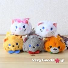 TSUM TSUM Mini S The Aristocats Set 5 Cat Plush Doll ❤ Disney Store Japan 2016