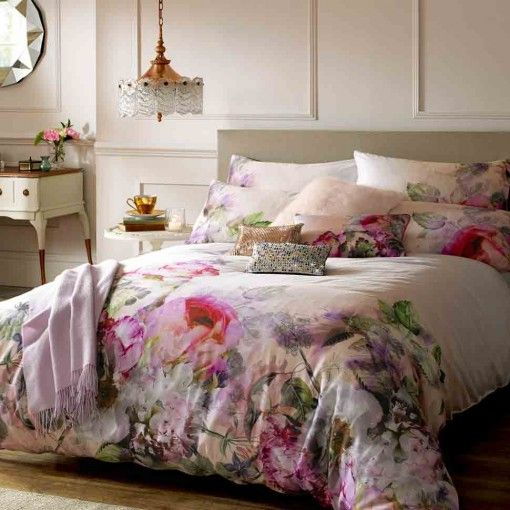 Ted Baker Pure Peony double duvet cover £85 ashleywildegroup.com Fashion designer Ted Baker has moved into bedlinen with a capsule range of gorgeous designs taken from his clothing range #watercolor