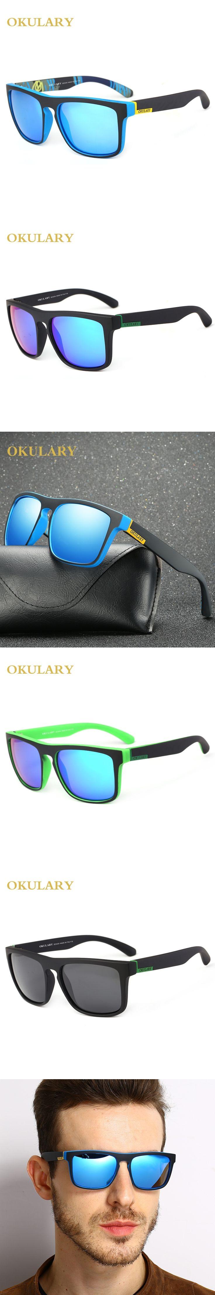 OKULARY Polarized Sunglasses For men Driving Fashion Brand designer Women Square Mirror COOL Sun Glasses Male Accessories 2017