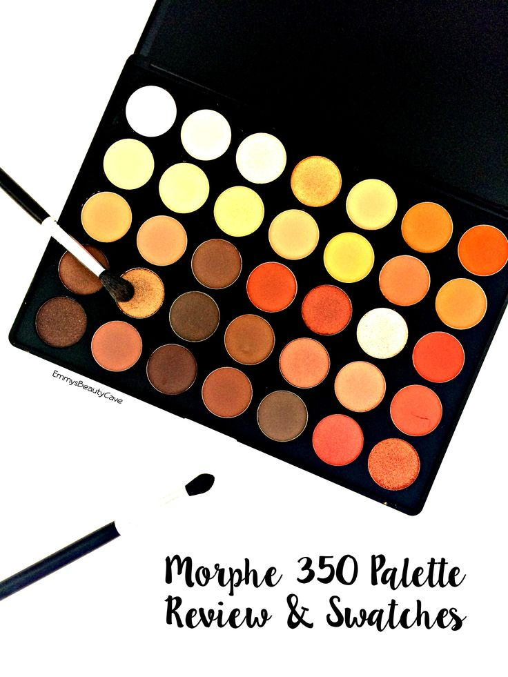 Morphe 350 Palette Review and Swatches, Morphe 35O Swatches, drugstore makeup, eye shadow palette, autumn eye makeup @morphebrushes