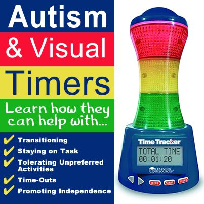 The concept of time - a difficult concept for those on the spectrum. Here is a visual timer to help you and your child with Autism.