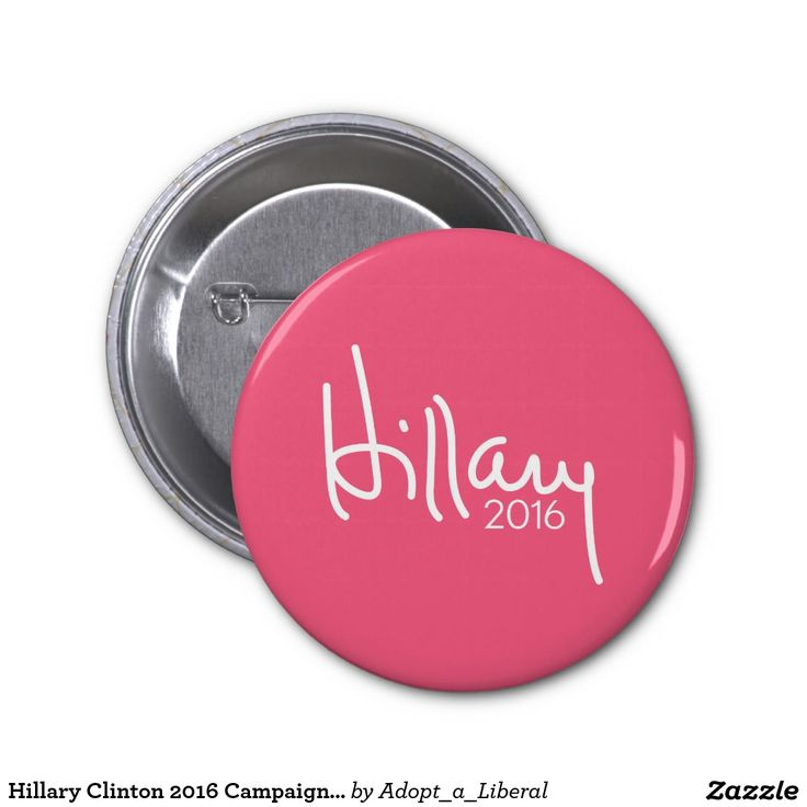 Hillary Clinton 2016 Campaign Gear Pink 2 Inch Round Button