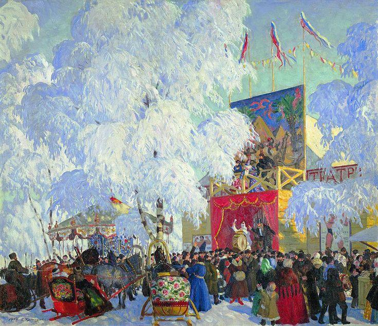 Show booths. Kustodiev - Boris Kustodiev - Wikipedia, the free encyclopedia