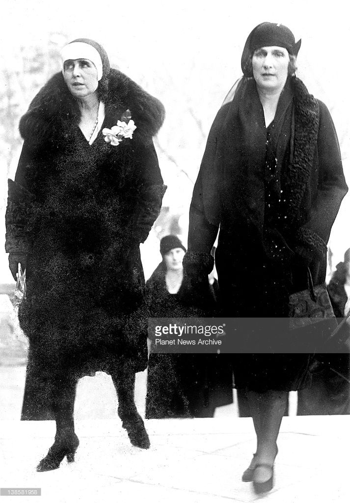 The Queen Mother of Rumania, Queen Marie, is an Easter guest of the Spanish Royal family.